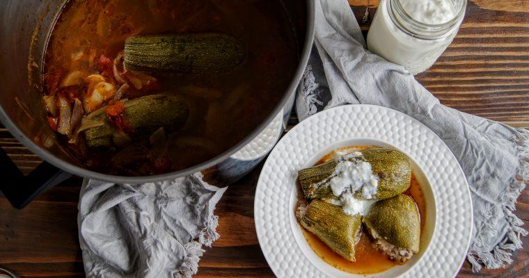 Kousa ~ Lebanese Stuffed Zucchini