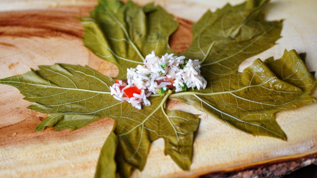 grape leaves, dolmas, lebanese, vegan, vegetarian