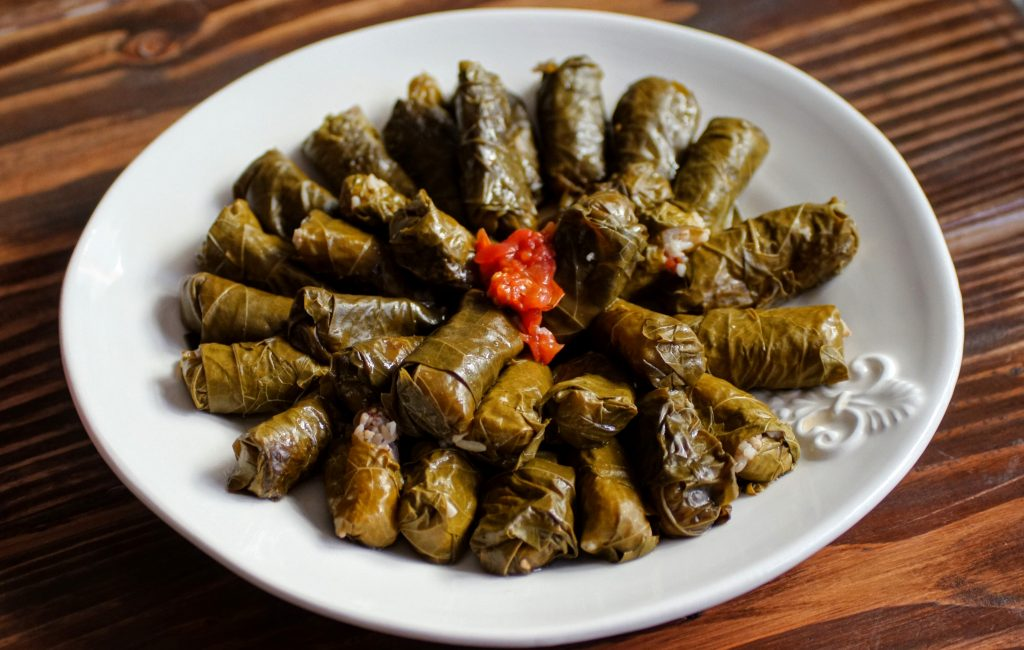grape leaves, dolmas