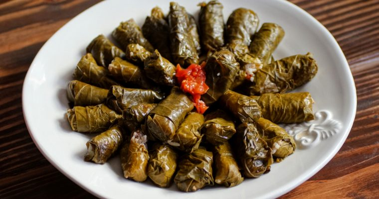 Stuffed Rolled Grape Leaves (Warat Areesh)