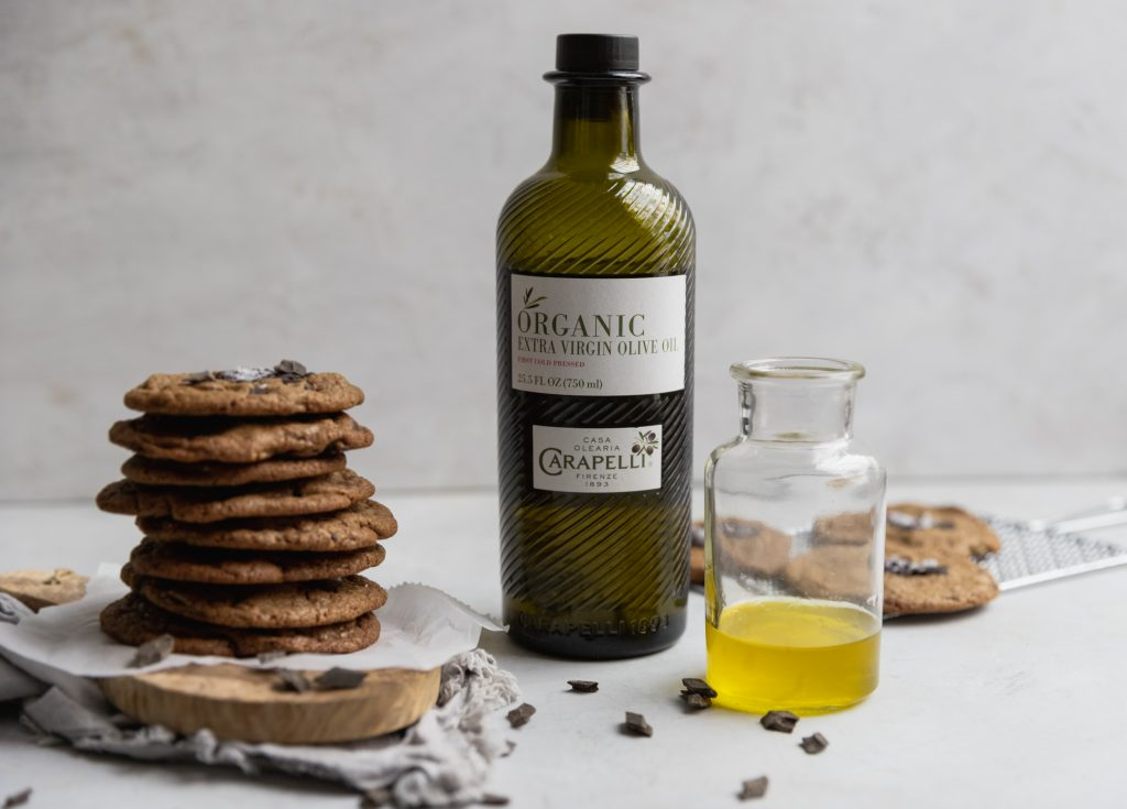 cookies, olive oil, chocolate, baking, chocolate chip