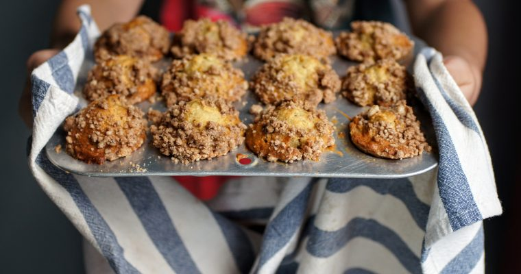 Mini Banana Walnut Muffins