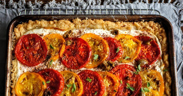 Lebneh Zaatar Tomato Pie