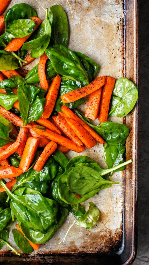 Carrots, spinach and sumac