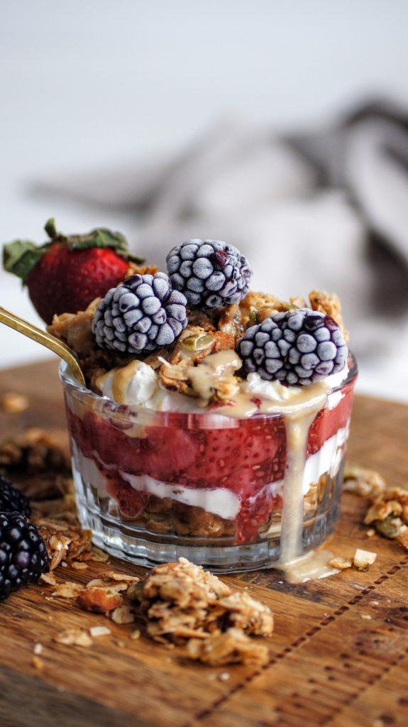 labneh, granola, fruit