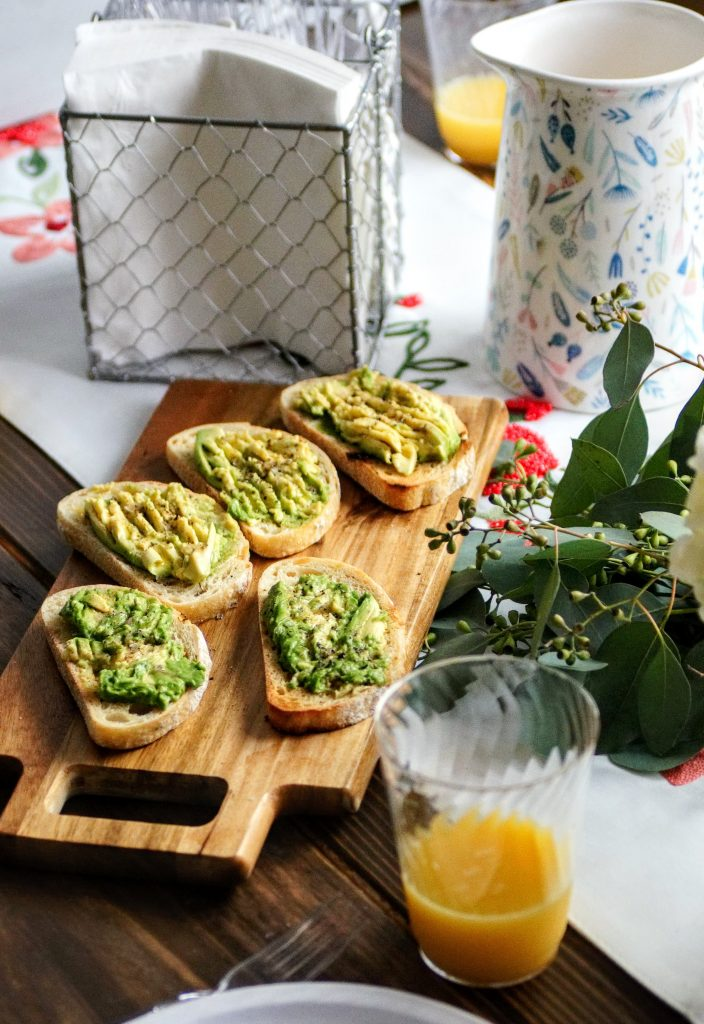 avocado, toast, brunch, breakfast