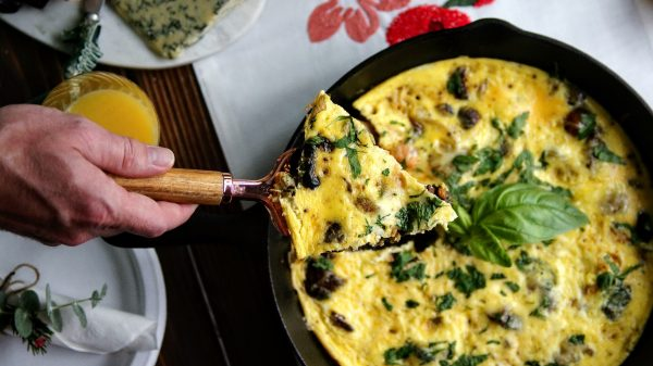 frittata, brunch, breakfast, vegetarian