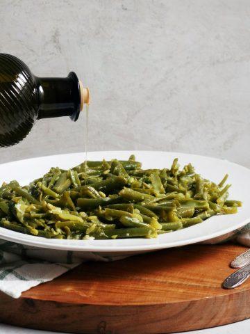 green beans, lebanese, olive oil, fresh, easy, vegetarian, vegan