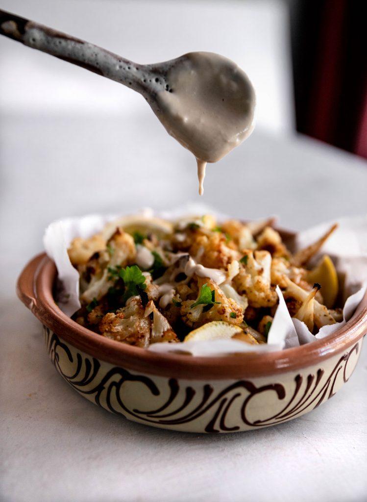 cauliflower, tahini, lebanese, appetizer
