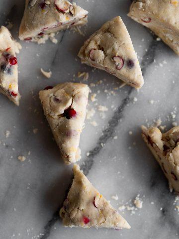 scones, cranberries, thanksgiving, fall, orange, baking