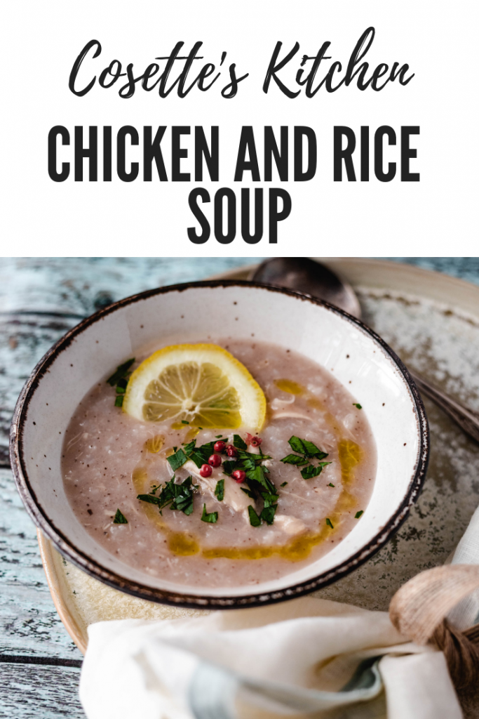 chicken, soup, lemon, rice, comfort, winter