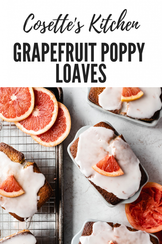 Grapefruit Poppy Loaf