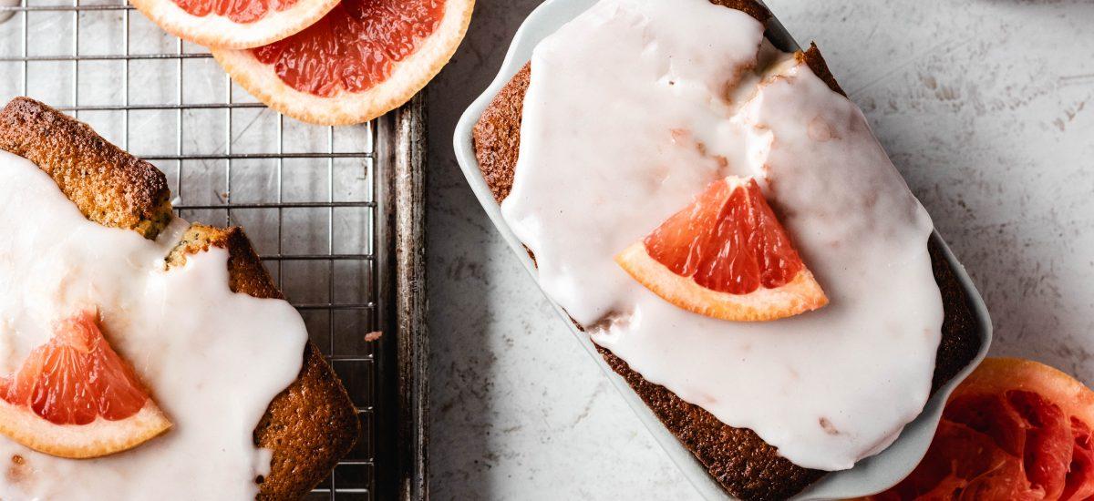 grapefruit, citrus, bread, cake, winter