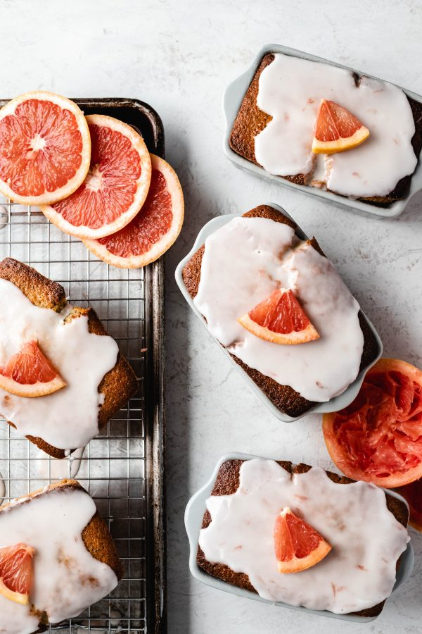 grapefruit, citrus, bread, cake, winter