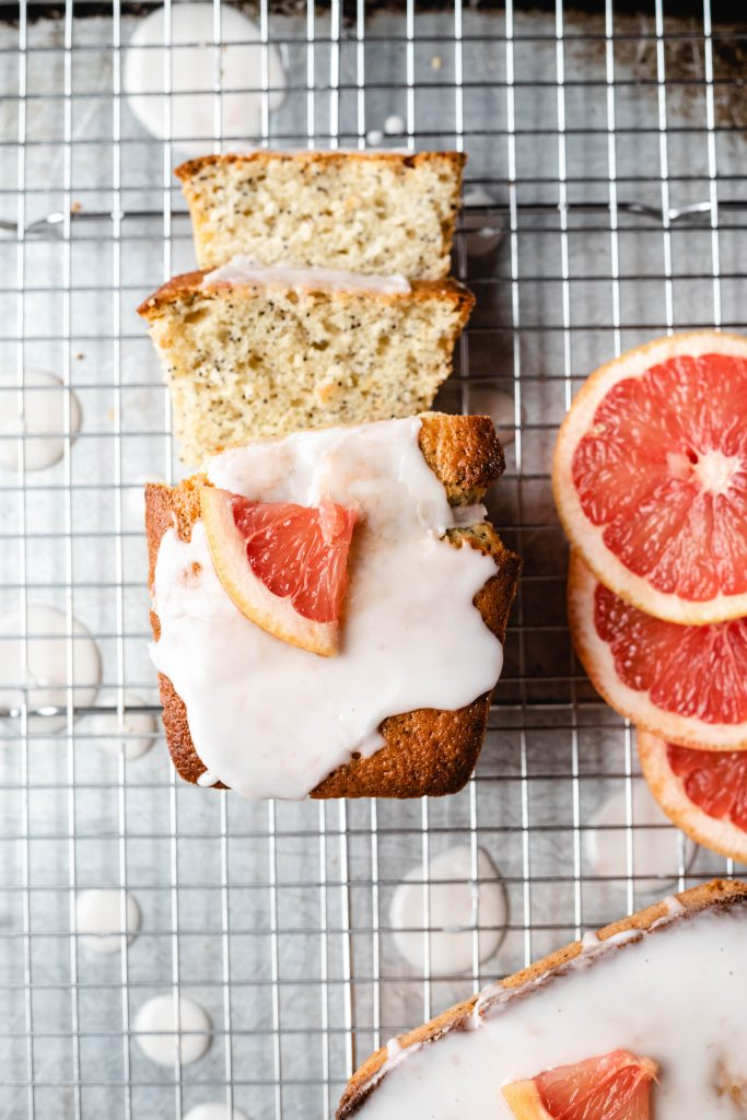 Grapefruit Poppy Loaves