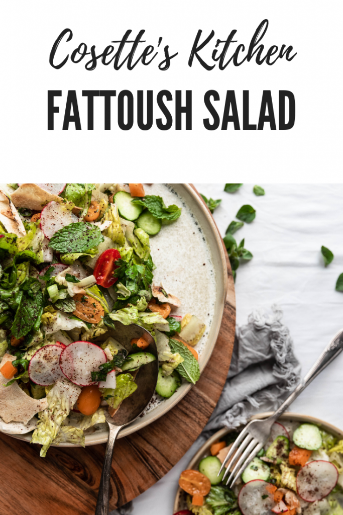 fattoush, salad, vegan, vegetarian, Lebanese