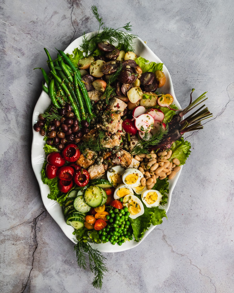 Nicoise, salad, fresh, summer, vegetables