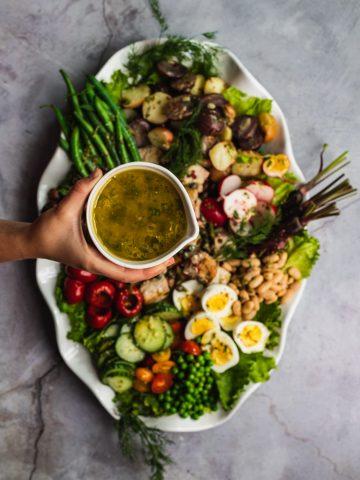 Nicoise, salad, fresh, summer, vegetables