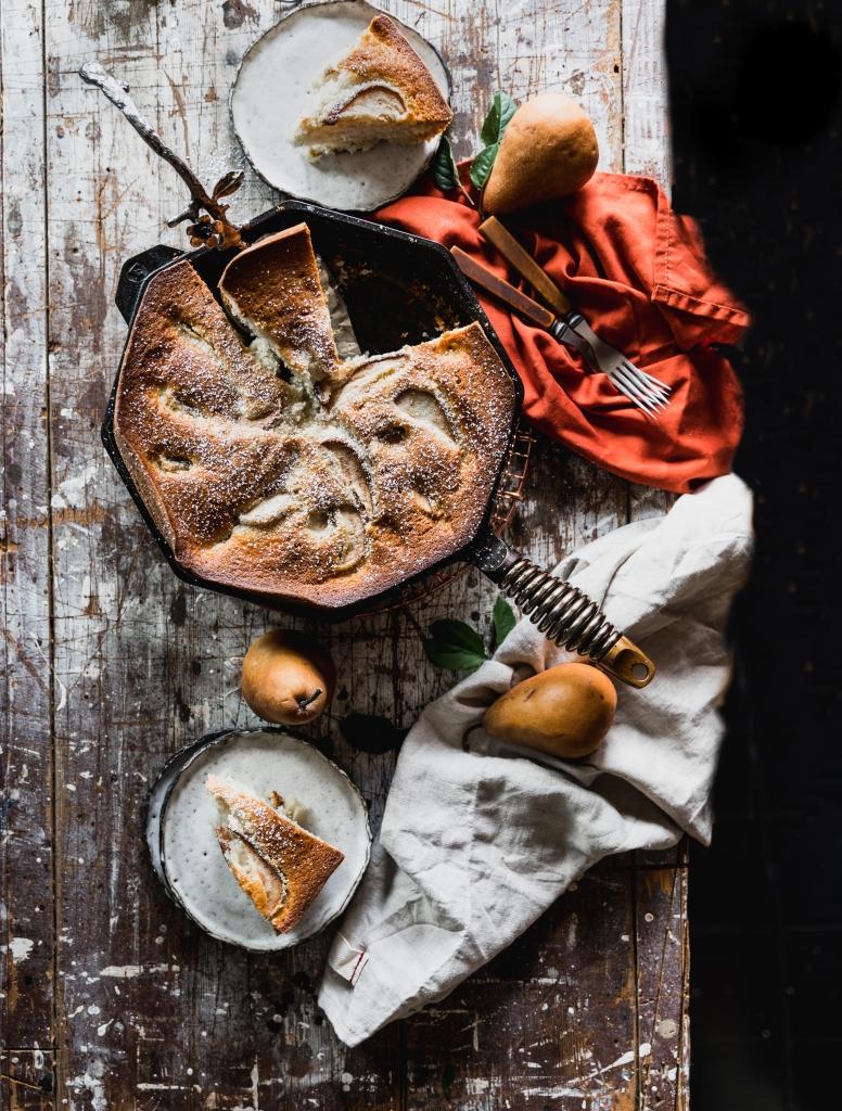 Skillet Pear Cake
