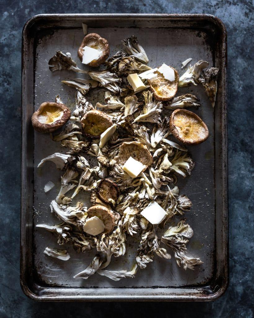Mushrooms before roasting
