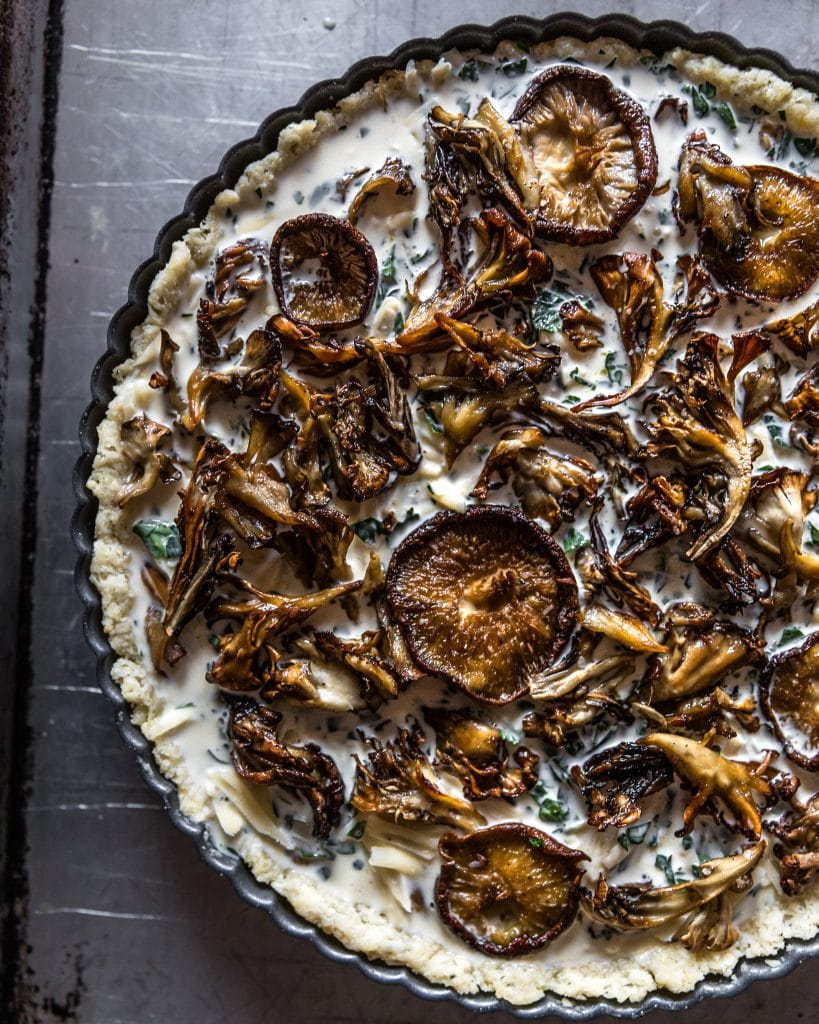 Mushroom Tart before baking