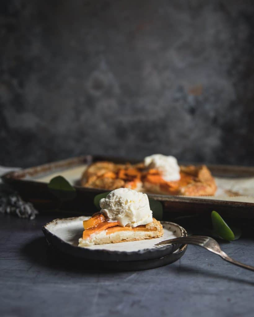 Persimmon galette with Vanilla Ice Cream