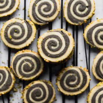 Tahini Pinwheel Cookies