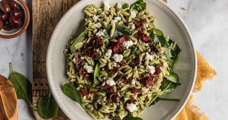 Copycat Trader Joe's Mediterranean Orzo Salad