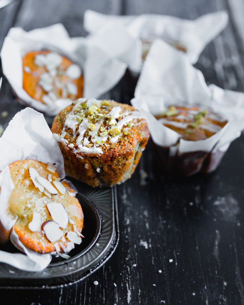 Orange Almond Semolina Muffins