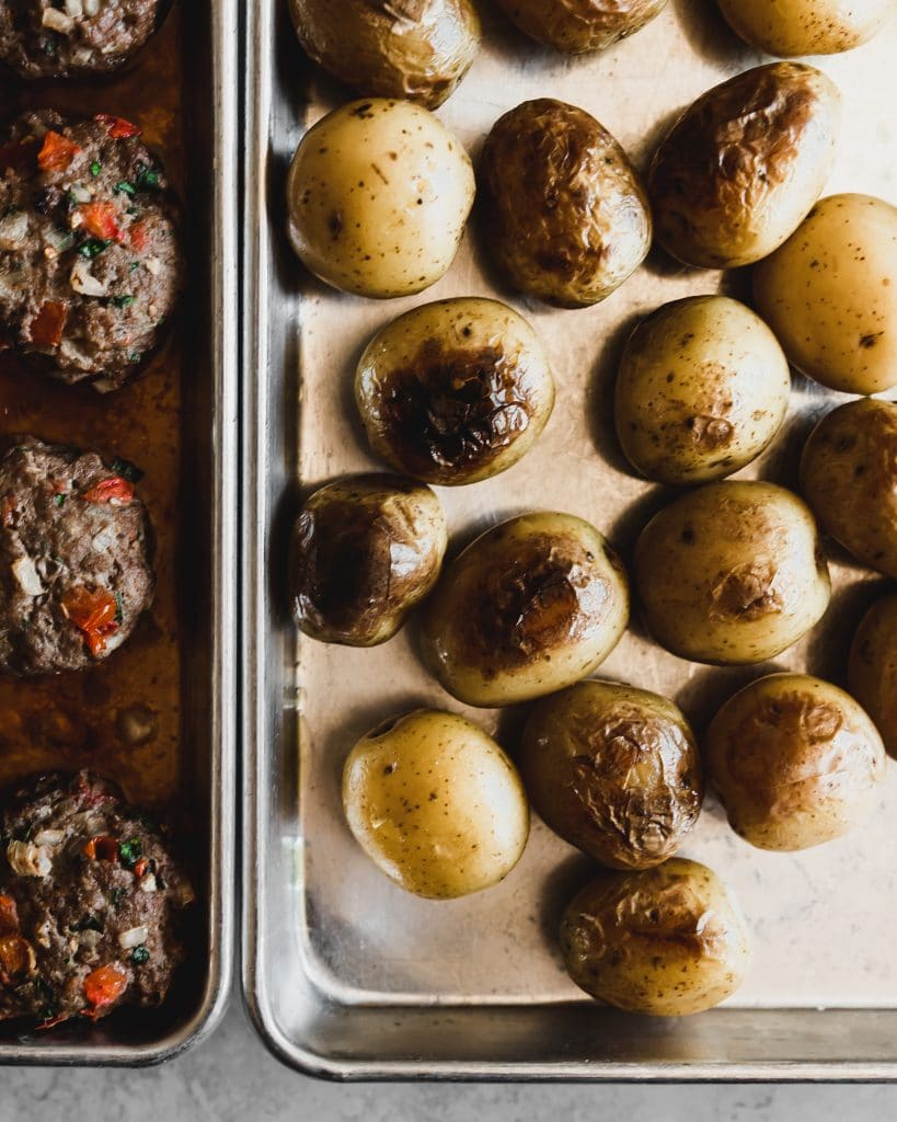 Kafta and potatoes