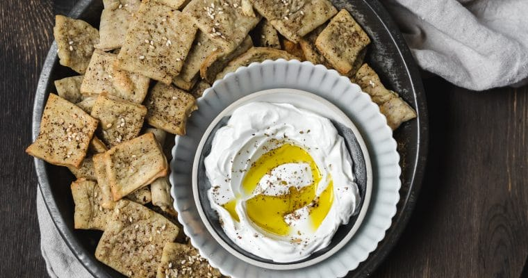 Homemade Za'atar Spice Crackers