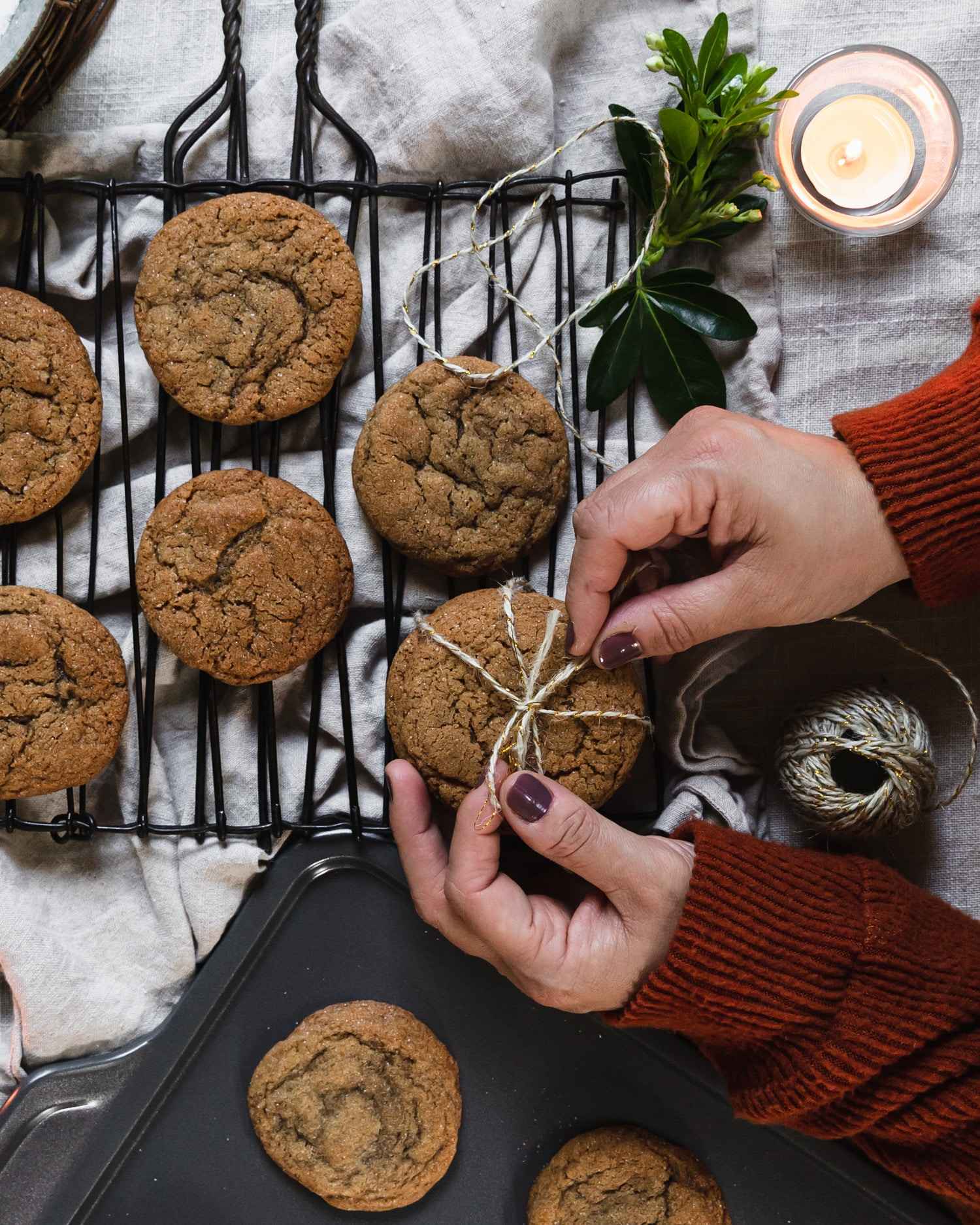 Cardamom Molasses Cookies – Virtual Cookie Party