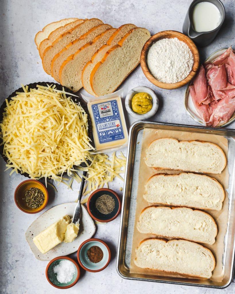 Croque Monsieur ingredients