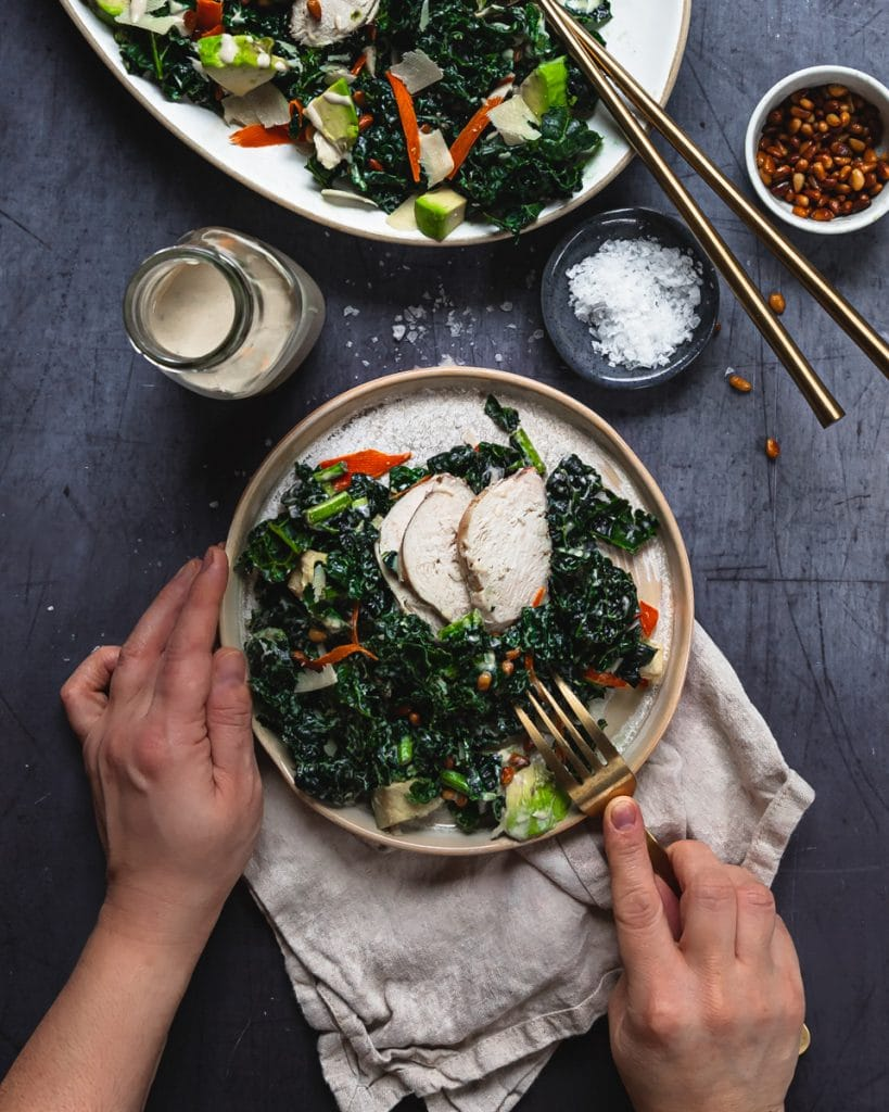 Kale Salad with Tahini Dressing