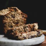 Sliced Tahini Banana Bread
