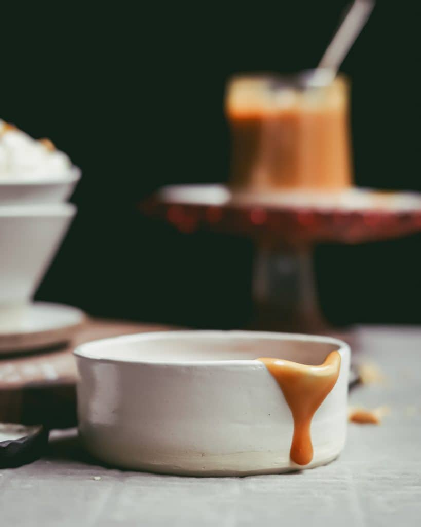 Cup with caramel drip