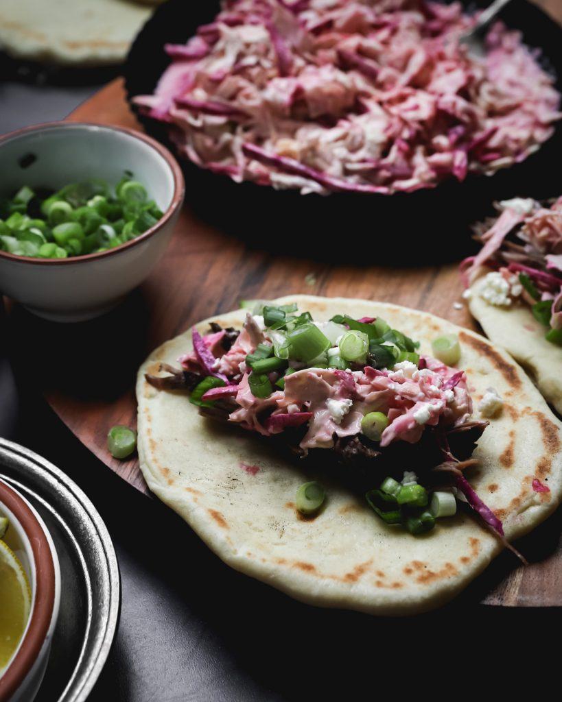 Assembling Lamb Tacos