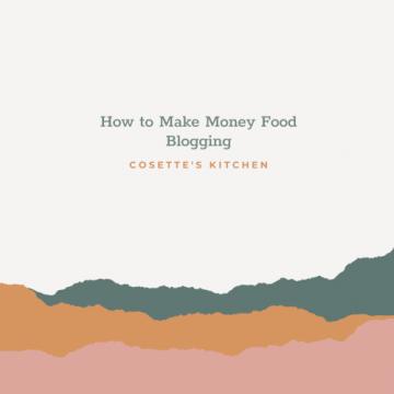 Make Money Food Bloggin