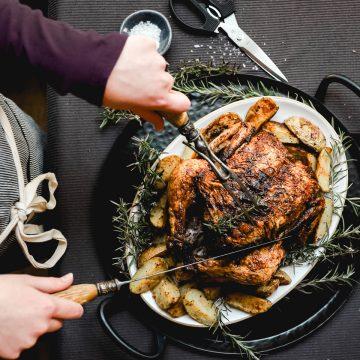 Roasted Chicken on platter