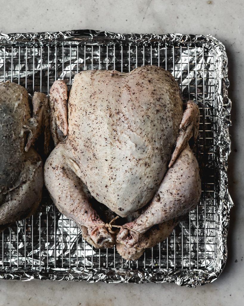 Chicken on rack