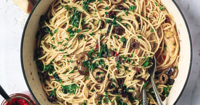 Summer Olive and Antipasti Pasta