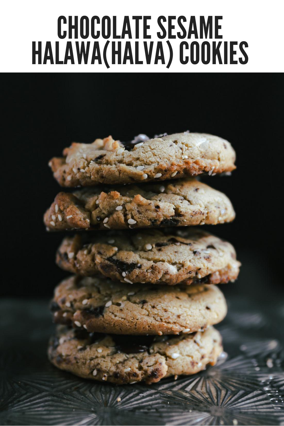 chocolate-sesame-halawahalva-cookies